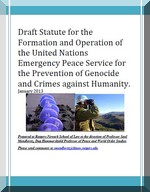 Draft Statute for the Formation and Operation of the United Nations Emergency Peace Service