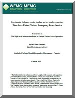 Peacekeeping challenges require standing, not just standby, capacities: Time for a United Nations Emergency Peace Service