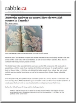 Austerity and war no more! How do we shift course in Canada?